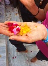 Holi Festivali ön seremonisi..