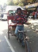 Bisikletli tuktuk-Agra