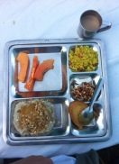 Parmarth Niketan Yoga Ashram-sabah kahvaltısı